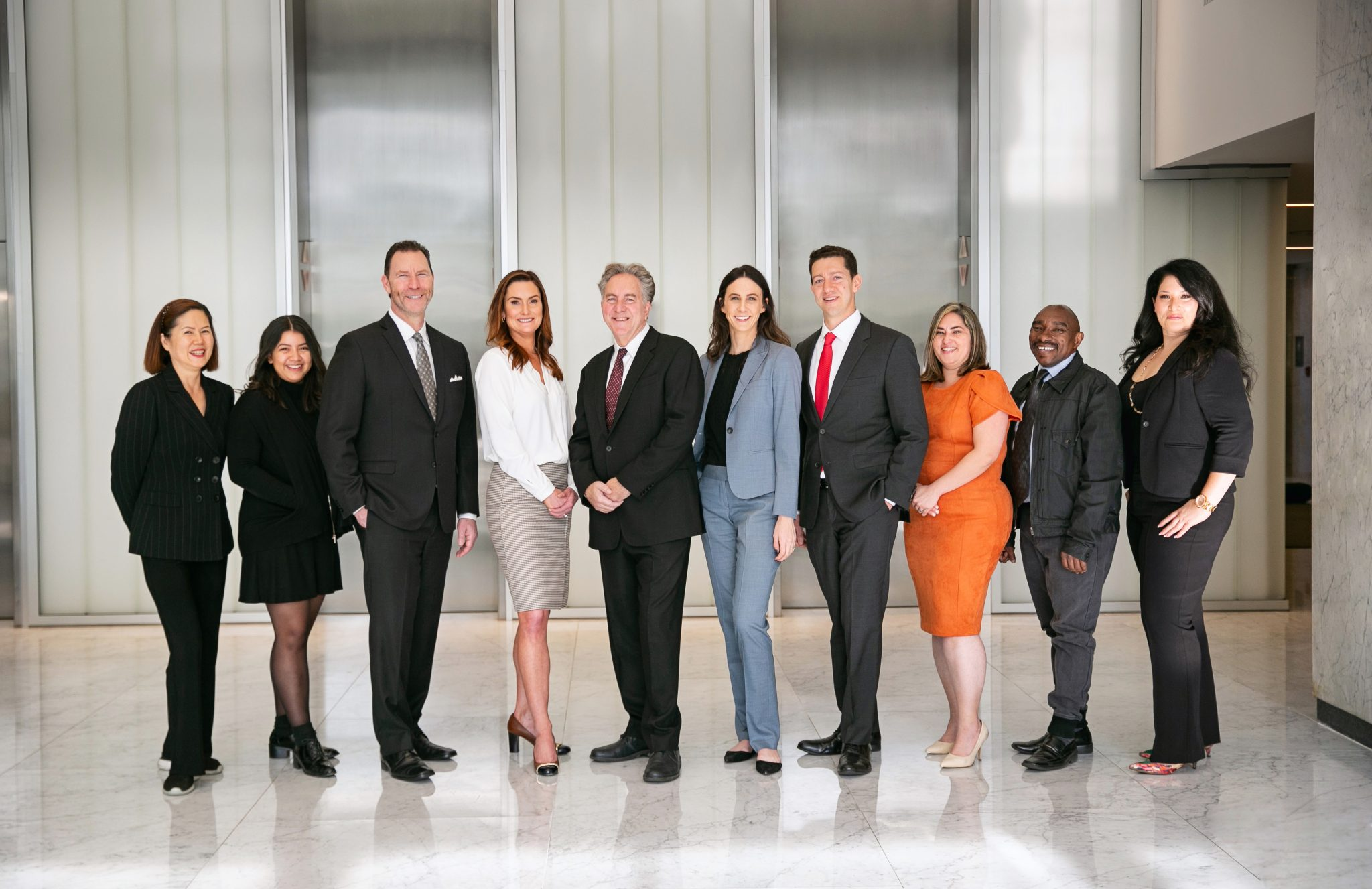 Group Photo of the Workplace Rights Attorneys at Kesluk, Silverstein & Jacob